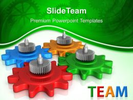 Image Gear Powerpoint Templates Gears Team Business Ppt Layouts