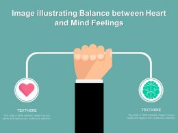 Image Illustrating Balance Between Heart And Mind Feelings
