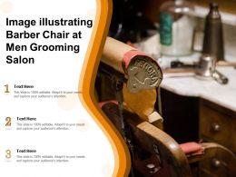 Image Illustrating Barber Chair At Men Grooming Salon