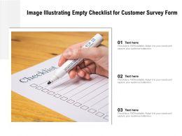 Image Illustrating Empty Checklist For Customer Survey Form