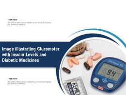 Image Illustrating Glucometer With Insulin Levels And Diabetic Medicines