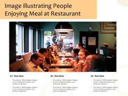 Image Illustrating People Enjoying Meal At Restaurant