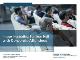 Image Illustrating Seminar Hall With Corporate Attendees