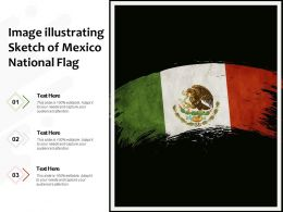 Image Illustrating Sketch Of Mexico National Flag