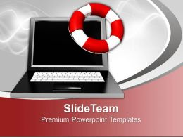 Image Laptop Computer Powerpoint Templates And Themes Business Flowchart