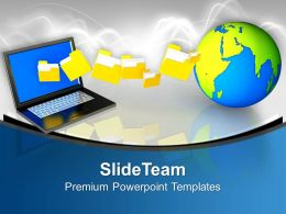 Image Laptop Computer Templates And Themes Sample Business Model Presentation