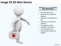 Image Of 3D Man Doctor Ppt Graphics Icons