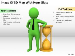 Image Of 3D Man With Hour Glass Ppt Graphics Icons Powerpoint