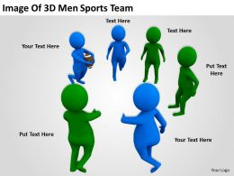 Image Of 3d Men Sports Team Ppt Graphics Icons Powerpoint