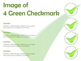 Image Of 4 Green Checkmark