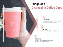 Image Of A Disposable Coffee Cups