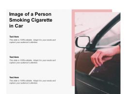 Image Of A Person Smoking Cigarette In Car