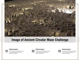 Image Of Ancient Circular Maze Challenge