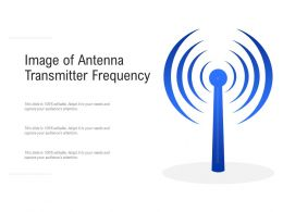 Image Of Antenna Transmitter Frequency