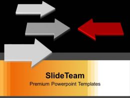Image Of Arrows Opposition Concept Powerpoint Templates Ppt Themes And Graphics 0213
