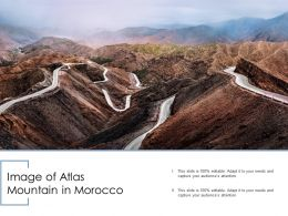 Image Of Atlas Mountain In Morocco