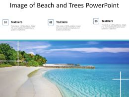 Image Of Beach And Trees Powerpoint