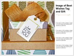 Image Of Best Wishes Tag And Gift