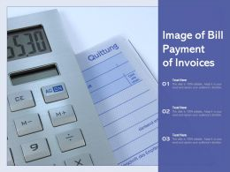 Image Of Bill Payment Of Invoices