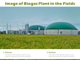 Image Of Biogas Plant In The Fields