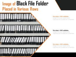 Image Of Black File Folder Placed In Various Rows
