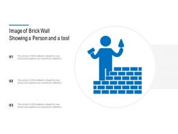 Image Of Brick Wall Showing A Person And A Tool