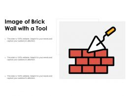 Image Of Brick Wall With A Tool