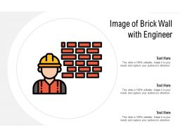 Image Of Brick Wall With Engineer