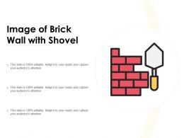 Image Of Brick Wall With Shovel