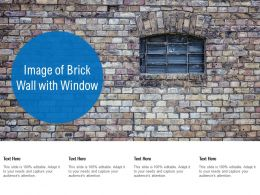 Image Of Brick Wall With Window