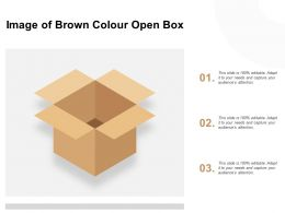 Image Of Brown Colour Open Box