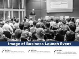 Image Of Business Launch Event