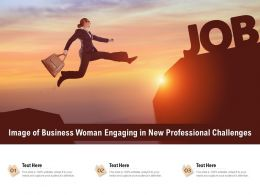 Image Of Business Woman Engaging In New Professional Challenges