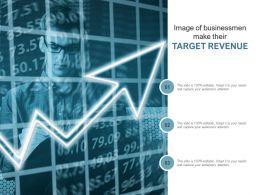 Image Of Businessmen Make Their Target Revenue