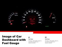 Image Of Car Dashboard With Fuel Gauge