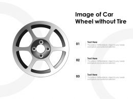 Image Of Car Wheel Without Tire