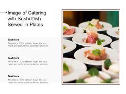 Image Of Catering With Sushi Dish Served In Plates