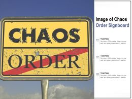 Image Of Chaos Order Signboard