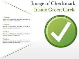 Image Of Checkmark Inside Green Circle