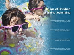 Image Of Children Learning Swimming