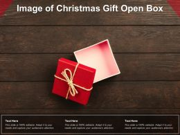 Image Of Christmas Gift Open Box