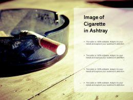 Image Of Cigarette In Ashtray