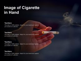 Image Of Cigarette In Hand