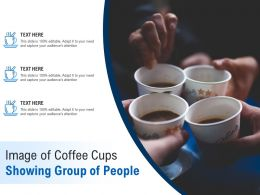 Image Of Coffee Cups Showing Group Of People