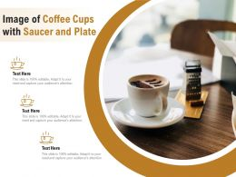Image Of Coffee Cups With Saucer And Plate