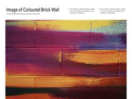 Image Of Coloured Brick Wall
