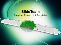 Image Of Combined Puzzle Pieces Powerpoint Templates Ppt Backgrounds For Slides 0213