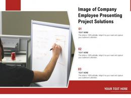 Image Of Company Employee Presenting Project Solutions