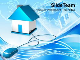 image_of_computer_mouse_connected_to_house_powerpoint_templates_ppt_themes_and_graphics_Slide01