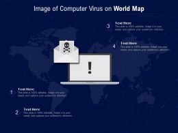 Image Of Computer Virus On World Map